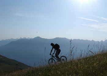 sommer mountainbike appartement in fiss